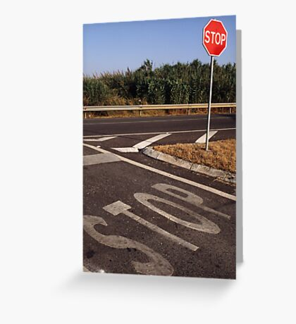 Double Stop Greeting Card