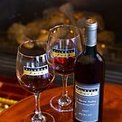 Merlot by the fire. by Di Jenkins