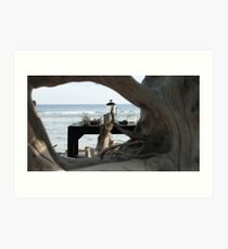 Serenity by the sea Art Print