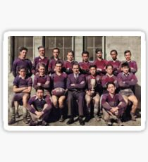[Bantam boys rugby team, possibly from a Vancouver high school]. 1935  2 colorized by Ahmet Asar Sticker