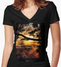 Sunsent Women's Fitted V-Neck T-Shirt