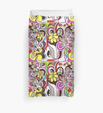 Human flourishing (flowers texture) Duvet Cover