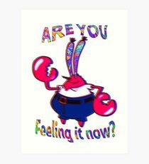 Are you feeling it now Mr Krabs? Art Print