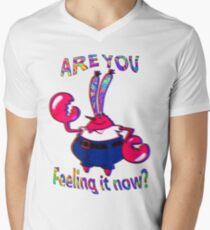 Are you feeling it now Mr Krabs? Men's V-Neck T-Shirt