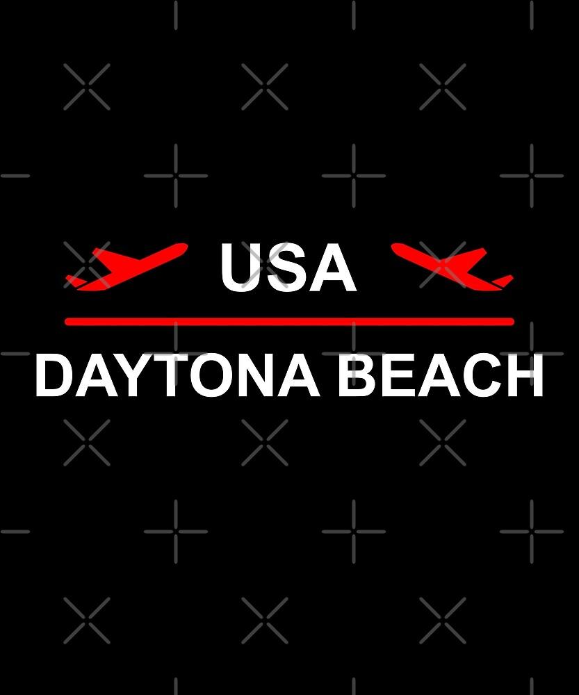 Daytona Beach USA Airport Plane Dark Color by TinyStarAmerica