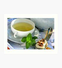 My Noon Cup of Tea Art Print