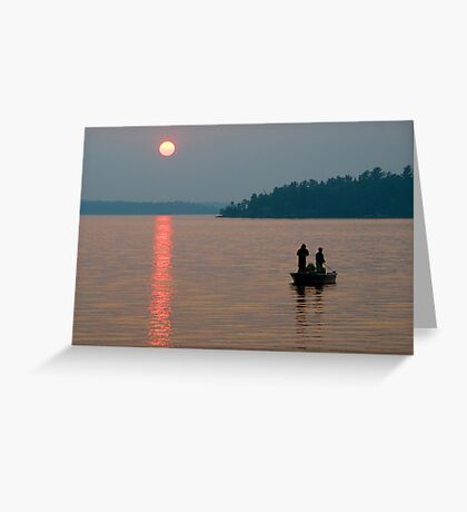 Evening Cast Greeting Card