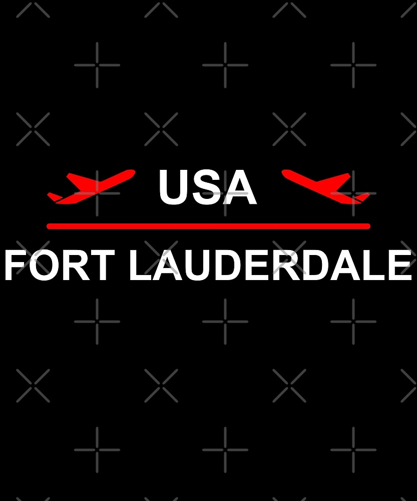 Fort Lauderdale USA Airport Plane Dark Color by TinyStarAmerica