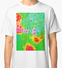 Colorful Abstract Watercolor Painting Background Classic T-Shirt
