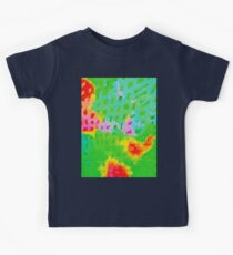 Colorful Abstract Watercolor Painting Background Kids Tee