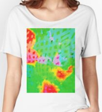 Colorful Abstract Watercolor Painting Background Women's Relaxed Fit T-Shirt