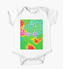 Colorful Abstract Watercolor Painting Background One Piece - Short Sleeve