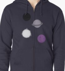 The ace of space Zipped Hoodie
