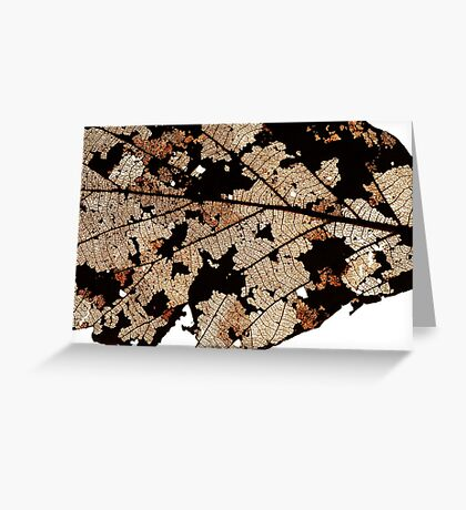 Dead Dry  leaf Greeting Card