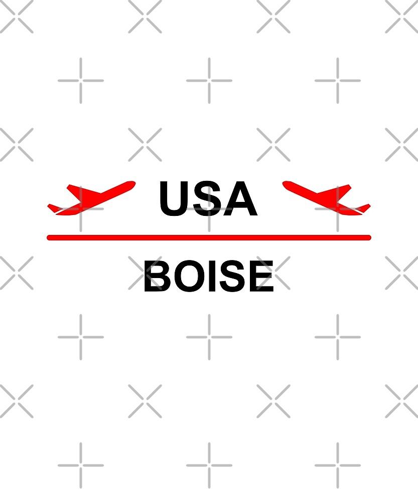 Boise Idaho USA Airport Plane Light-Color by TinyStarAmerica