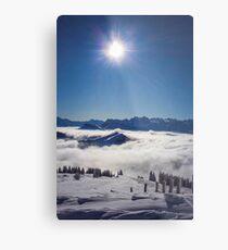 Lámina metálica Monte Rigi en Suiza