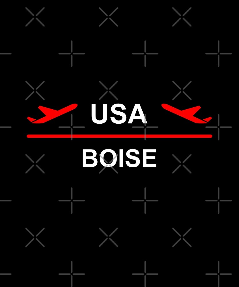 Boise Idaho USA Airport Plane Dark Color by TinyStarAmerica
