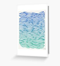 Ombré Waves Greeting Card