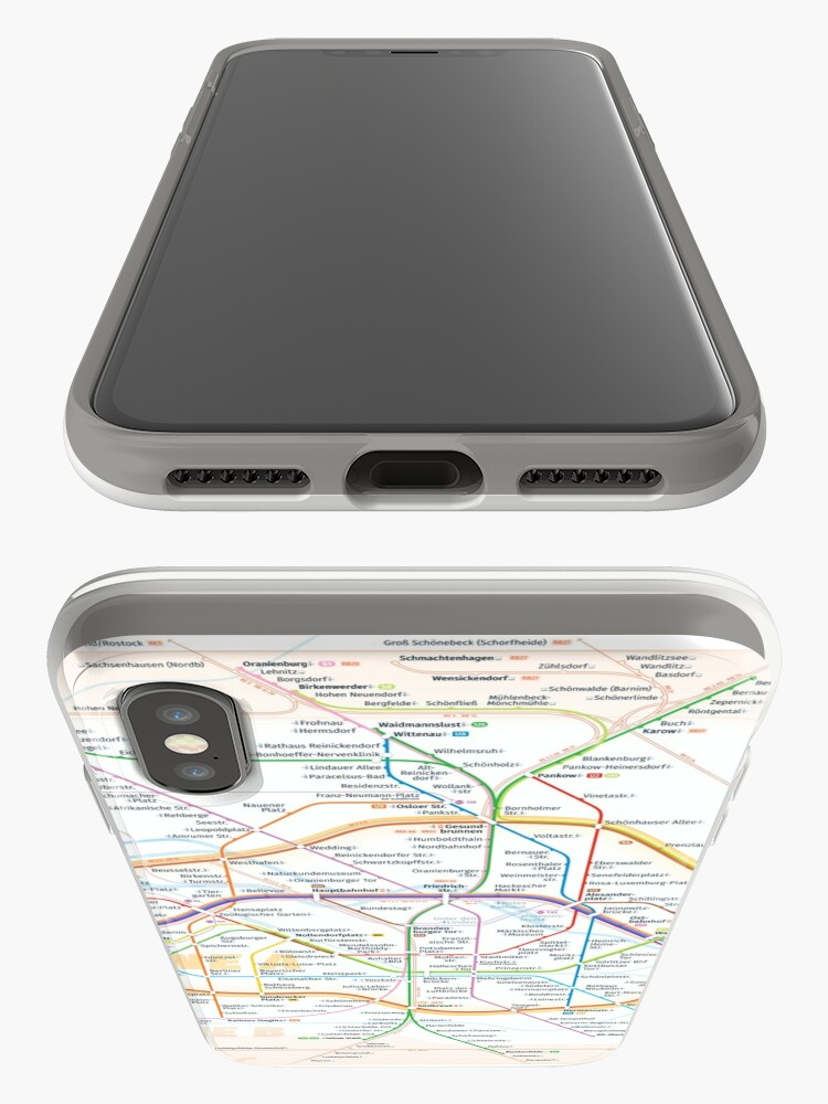 Alternate view of New Berlin rapid transit route map (February 27, 2019) iPhone Case & Cover