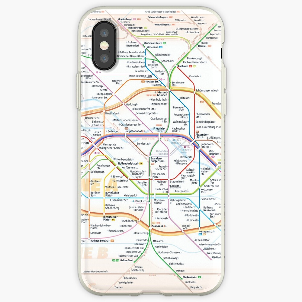 New Berlin rapid transit route map (February 27, 2019) iPhone Case & Cover