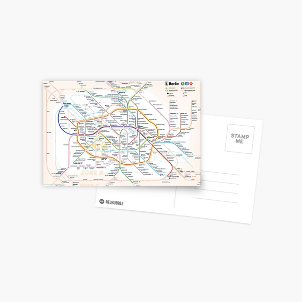 New Berlin rapid transit route map (February 27, 2019) Postcard