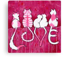 Tails of Love Canvas Print