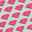 Watermelon Slice Pattern - Blue by Kelly  Gilleran