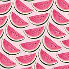 Watermelon Pattern - Pink by Kelly  Gilleran