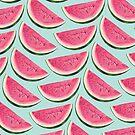 Watermelon Pattern - Blue by Kelly  Gilleran