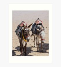Jack & Eeyore Art Print