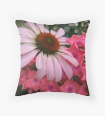 Floral scene Throw Pillow