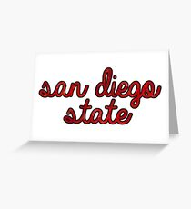 San Diego State Tie Dye Greeting Card