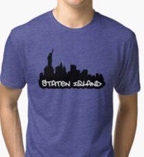 Staten Island NYC 02 Tri-blend T-Shirt