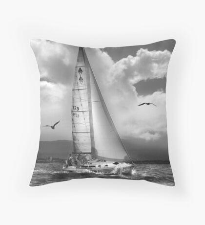 Bird Watch Sail Throw Pillow