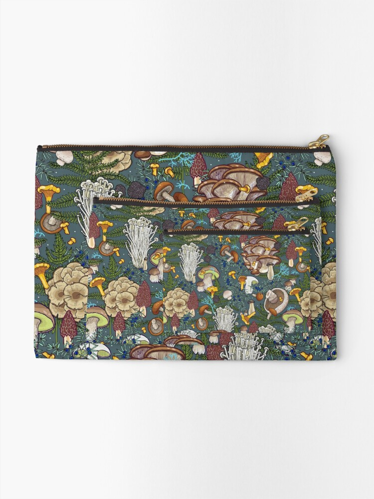 Alternate view of mushroom forest Zipper Pouch