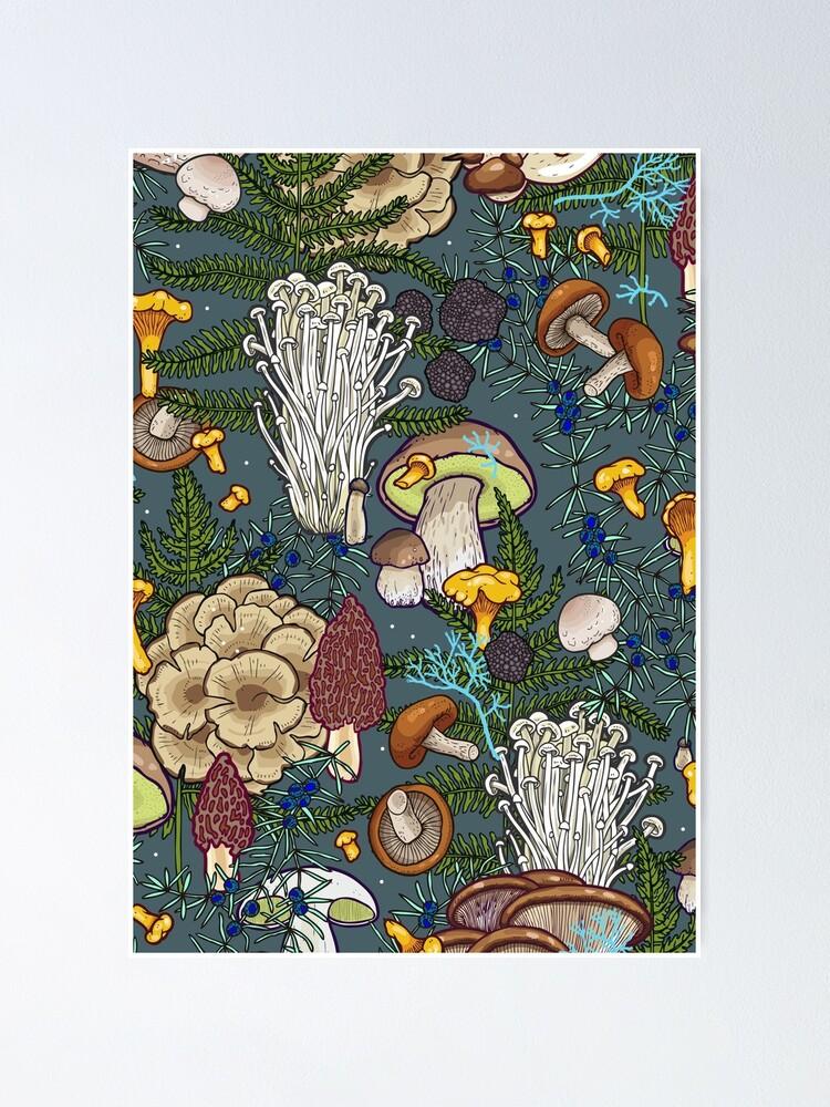 Alternate view of mushroom forest Poster