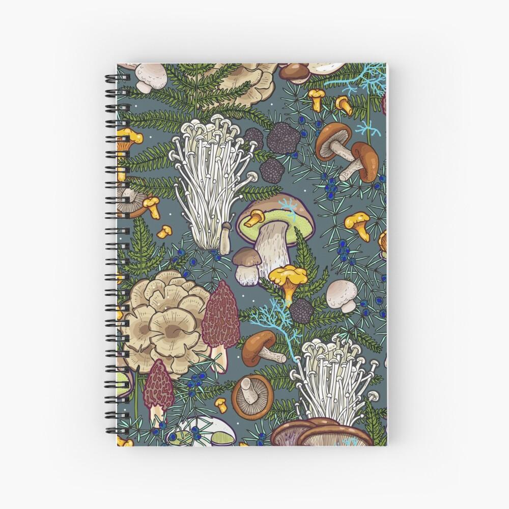 mushroom forest Spiral Notebook