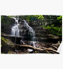 Tuscarora Waterfalls.  Poster