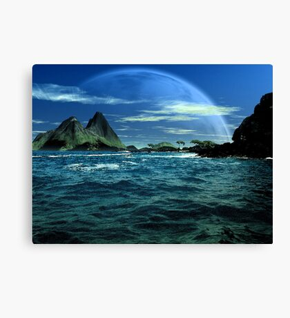 Below Pandora's Moon Canvas Print