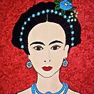 Frida with Blue Flowers by Shulie1