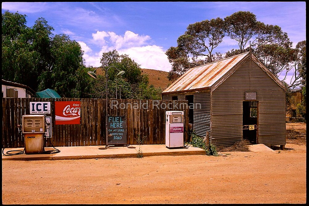 Outback Australian Town by Ronald Rockman