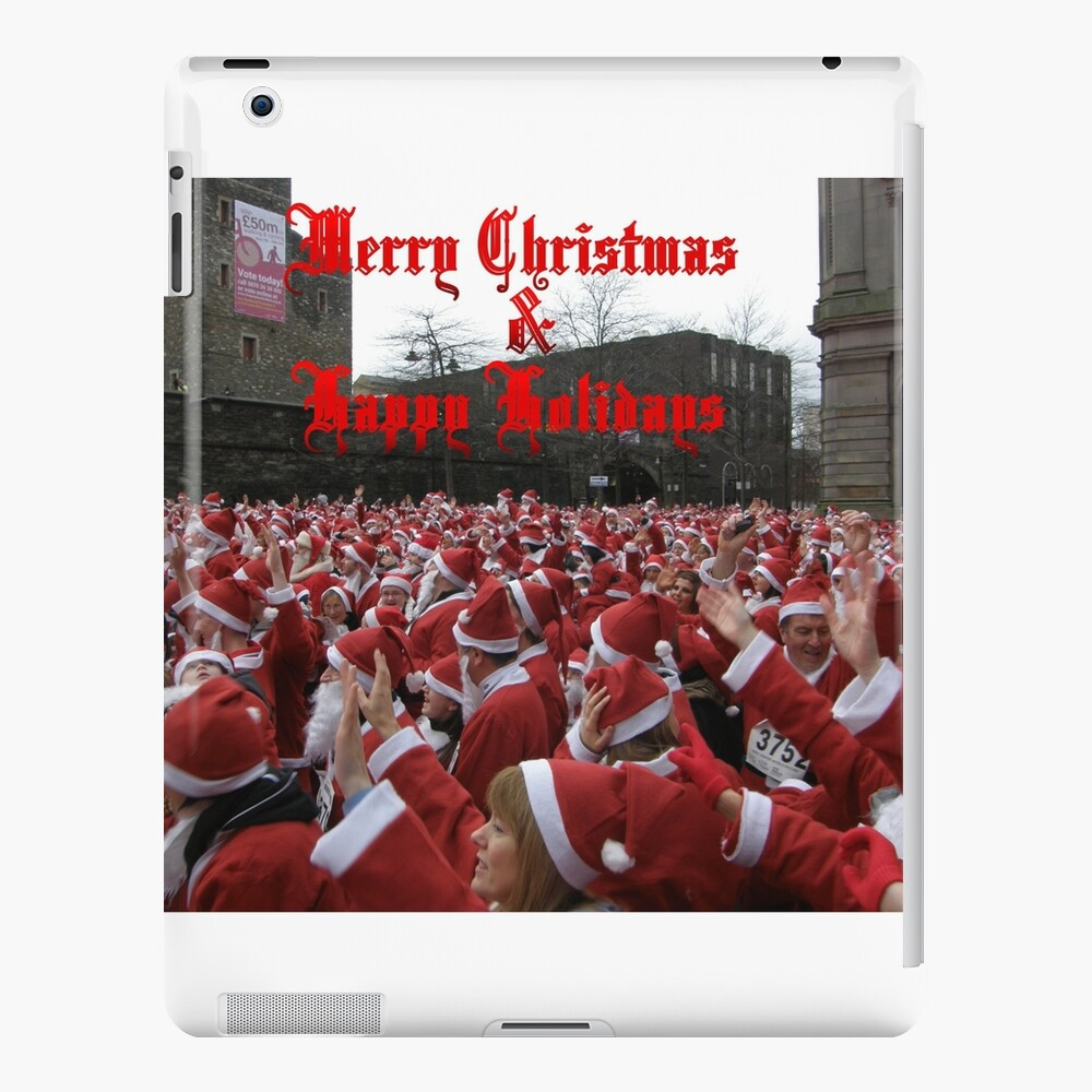 Merry Christmas  and Happy Holidays  iPad-Hülle & Skin