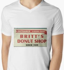 Britts Famous Doughnuts Men's V-Neck T-Shirt