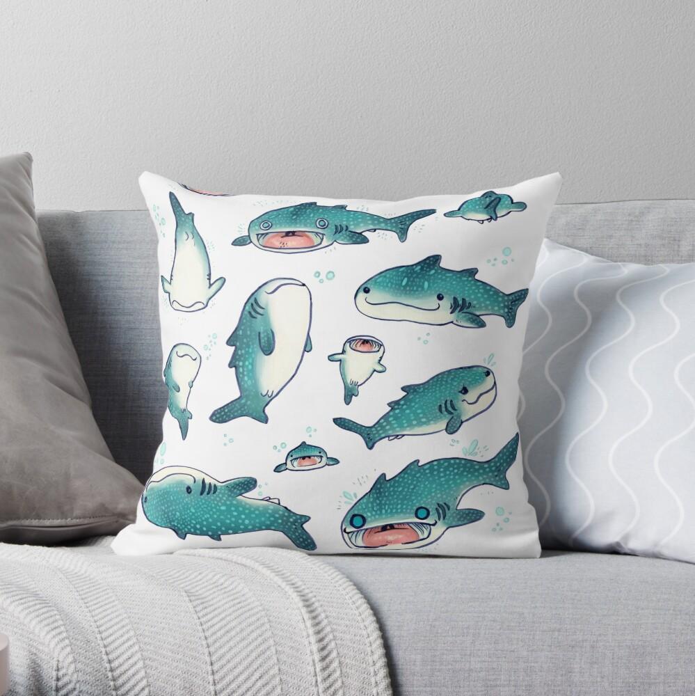 whale sharks! Throw Pillow