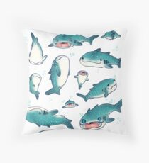 whale sharks! Throw Pillow