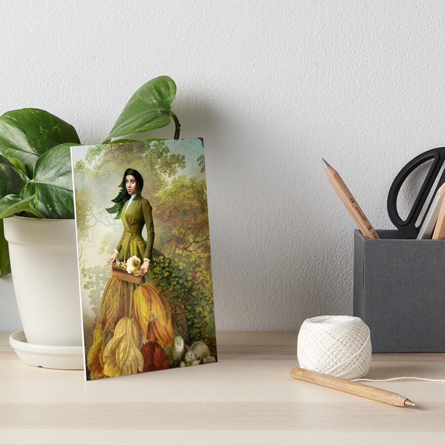 Queen of Pentacles Art Board Print