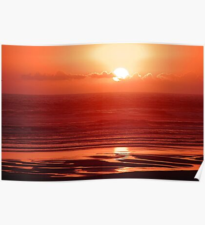Red Sunset Poster