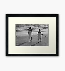 When sisters stand shoulder to shoulder, who stands a chance against us?  Framed Print