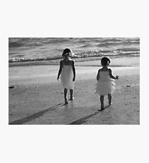 When sisters stand shoulder to shoulder, who stands a chance against us?  Photographic Print