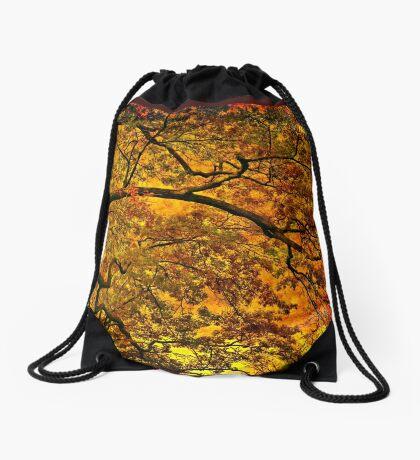 Burning fall Drawstring Bag